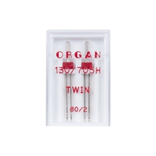 Иглы Organ Двойные стандартные № 80/2.0, 2 шт.