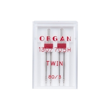Иглы Organ Двойные стандартные № 80/3.0, 2 шт.